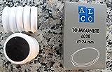 10 Magnete ALCO 24mm weiss zB.für Kühlschrank