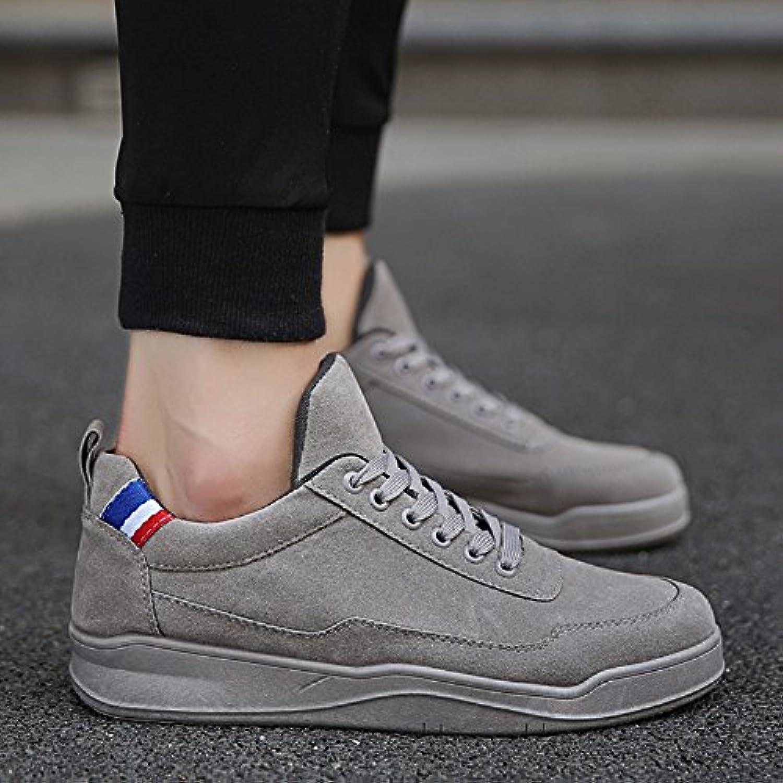XIAOLIN  Stoffschuhe Jungs Freizeitschuhe Plate Schuhe Herrenschuhe Wilde Flut Schuhe ( Farbe : Grau   größe :