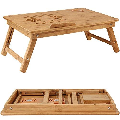 Miadomodo tavolino da letto portatile tavolino letto pc bamb con ventole usb - Tavolino per pc portatile da letto ...