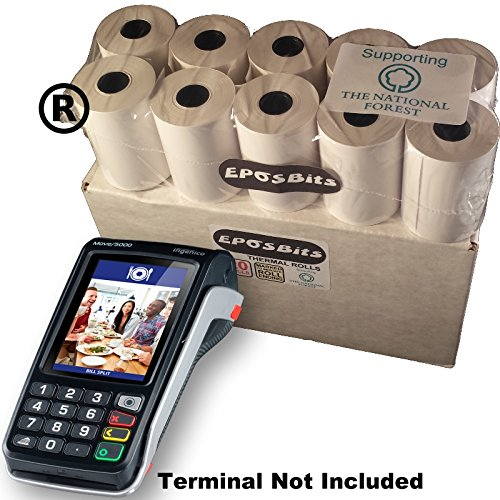 EPOSBITS® Brand Rolls To Fit Ingenico Move 5000 Move5000 Move/5000 Credit  Card Terminal - 20 Rolls