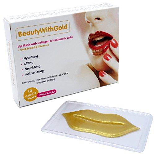 Mascara de oro para labios con colágeno y Ácido hialurónico para hermosos y carnosos labios