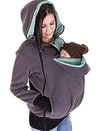 CHENGYANG Sudaderas con capucha Otoño Invierno Sudadera Portador de Bebé 3 in1 Embarazo Enfermería Chamarras para Mujer