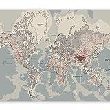 murando - Fototapete 350x256 cm - Vlies Tapete - Moderne Wanddeko - Design Tapete - Wandtapete - Wand Dekoration - Weltkarte Landkarte k-A-0061-a-c