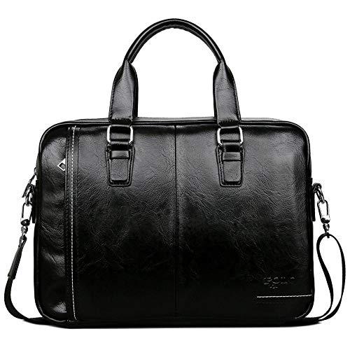TnXan Nuovo set di borse da uomo in pelle di alta qualità Borsa da uomo Set di valigette da uomo Borsa per laptop da uomo d'affari