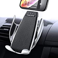 Dufan IR Intelligent Sensing Wireless Car Charger, Air Vent Automatic Clamping Wireless Car Charger Mount Holder, 10W Fast Charging Compatible for iPhone Xs Max/XR/X/8/8Plus Samsung S9/S8/Note 8