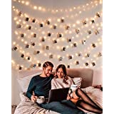 Clip Cadena de Luces LED USB,LECLSTAR 10m 100 LED Fotoclips Guirnalda de Luces con 50 Pinzas,ideal para Hogar, Pared, Navidad