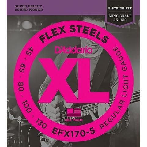 D'Addario EFX170-5 Set Corde Basso EXL