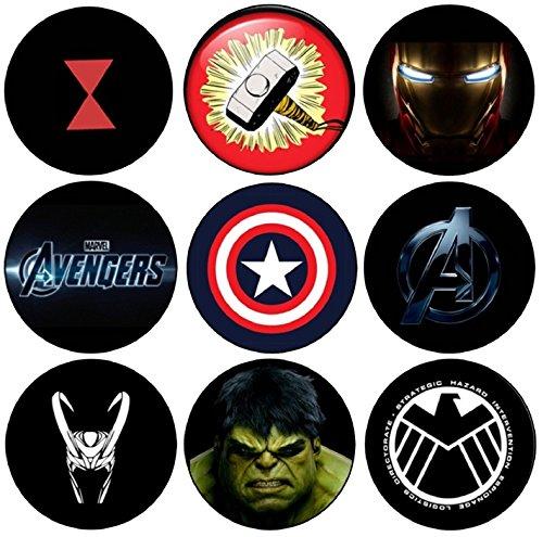 Avengers 9x Magnet-Set (58mm Durchmesser)