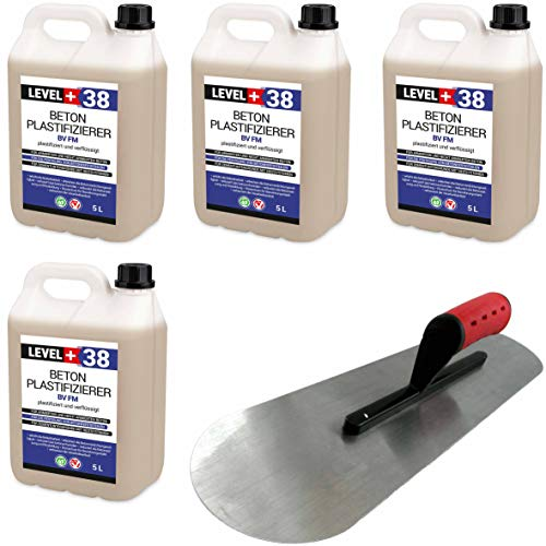 Set Beton-Zusatzmittel 20L Profi + BODENLEGERKELLE Beton Plastifizierer Fließmittel SET353