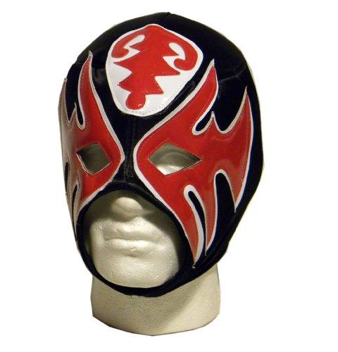 Luchadora Atlantico Schwarz Rot Maske Lucha Libre Mexikanische Wrestling