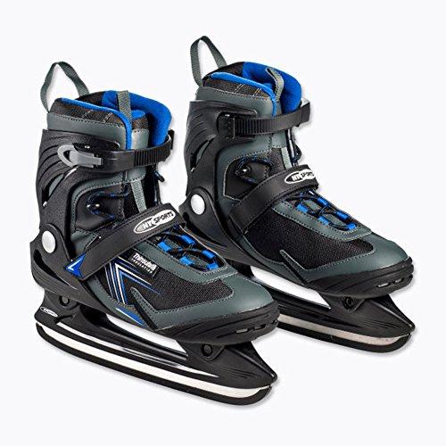 Schlittschuhe für Herren Freizeit Schlittschuhe Gr. 44 Eislaufschuhe Eishockey Farbe: Schwarz/grau/blau