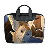 Benutzerdefinierte 15 Zoll importiert Nylon wasserdicht Stoff Laptop tragbare Schulter Messenger Bag Diy Cartoon Eule Design