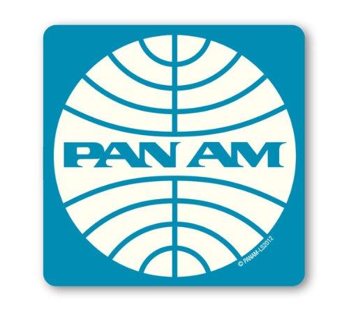 Untersetzer Pan Am Logo - Pan American Airways - Bierdeckel - Lizenziertes Originaldesign - LOGOSHIRT (American Airlines Taschen)