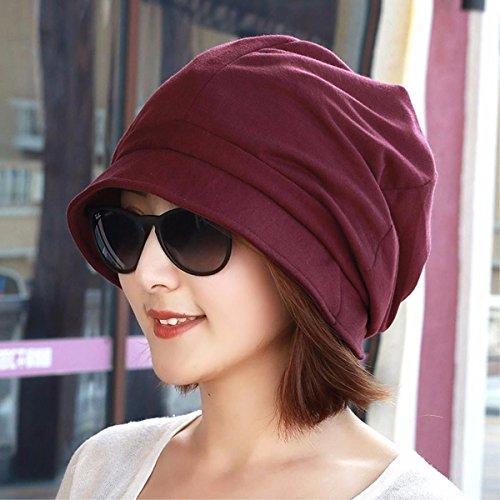 YISANLING-MZ Hat Frau Herbst cap vorangegangen Wai Becken Kappe Hut achteckigen Kappe Lager Kappe Maler hat Fischer Kappe auf der Kappe, Rot