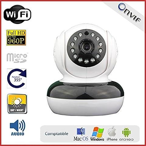 Telecamera IP motorizzata interna, Wi-Fi, HD 960P, altoparlante, micro e