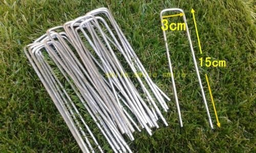 50-xartificial-grass-turf-u-pins-galvanised-metal-pegs-mesh-mat-staples
