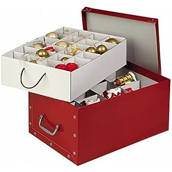 Weihnachtsdeko Ordnungsbox Tchibo.Amazon De Weihnachtskugelbox Rot
