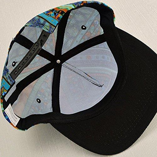 Belsen - Casquette de Baseball - Femme Multicolore noir Taille Unique Bleu