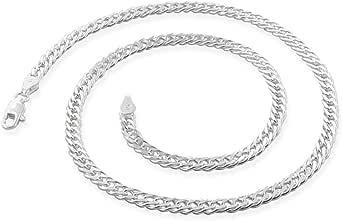 TreasureBay - Catena in argento Sterling 925 da uomo e donna, 5,5 mm, in argento Sterling 925, 40 cm, 45 cm, 48 cm, 50 cm e 55 cm