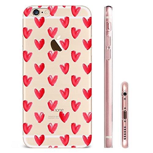 IPHONE 6splus Hülle Meerjungfrau Ananas Liebe Muster TPU Silikon Schutzhülle Handyhülle Case - Klar Transparent Durchsichtig Clear Case für iPhone 6splus hw7