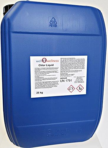 well2wellness® Chlor Liquid / Chlor flüssig stabilisiert mit 13% Aktivchlor - 25 kg