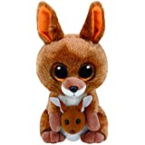 TY - Beanie Boos Kipper, canguro, 15 cm, color marrón (United Labels Ibérica 37226TY)