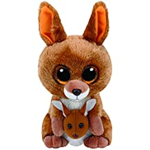 TY - Beanie Boos Kipper, peluche canguro, 15 cm, color marrón (United