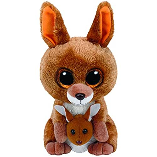 peluches TY - Beanie Boos Kipper, canguro, 15 cm, color marrón (United Labels Ibérica 37226TY)