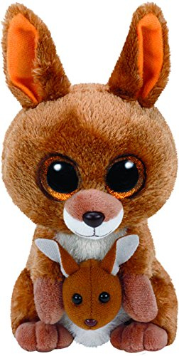 TY - Beanie Boos Kipper, peluche canguro, 15 cm, color marrón (United Labels Ibérica 37226TY)