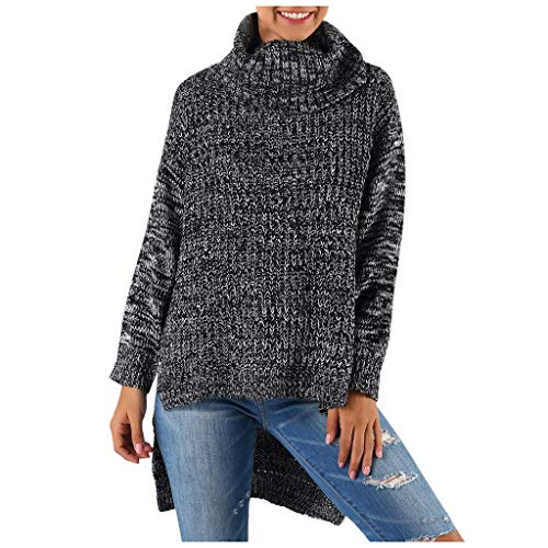 Allence Damen Rollkragenpullover Strickpullover Stricken Pulli Winter Sweatshirt Oberteile Elegant Strickpulli Sweater Oberteiles Tops
