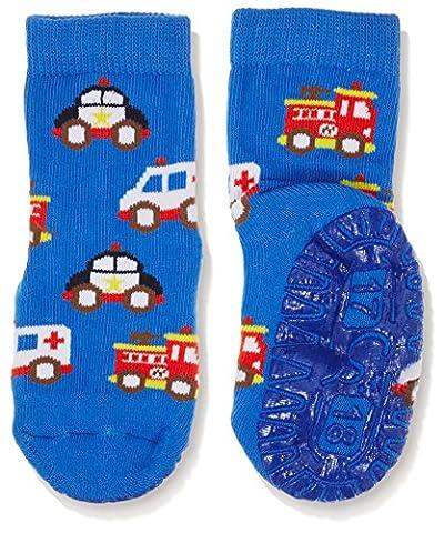 Sterntaler Baby-Jungen Socken Fli Air Rettungswagen Blau (Enzian 377), 22