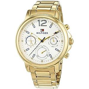 Tommy Hilfiger Damen Analog Quarz Uhr mit beschichteten Edelstahl Armband 1781742