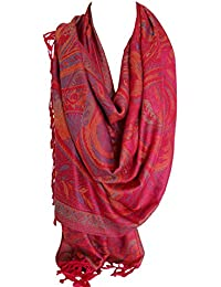 Paisley Ethnic Print Pashmina Feel Wrap Shawl Scarf Scarves Hijab in Rich Colours