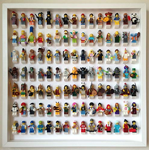105 Lego Minifigures Frame Display Blanco