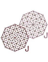 ARDITEX Parapluie Pour Enfant Sous Licence Minnie Mouse En Eva Transparent 38Cm 2 Assortis Paraguas clásico