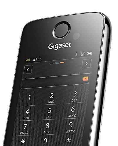 Gigaset SL910 Telefon - Schnurlostelefon / Mobilteil - mit Farbdisplay / Design Telefon / schnurloses Telefon - Freisprechen - schwarz - 8