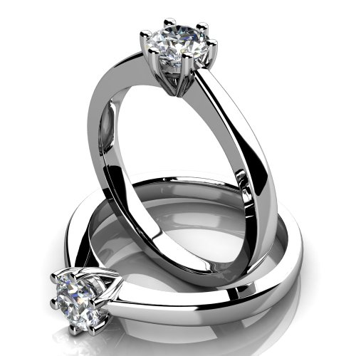 Platinum solitaire Engagement Ring 1/3 Carat Diamonds - Top Quality 100% Natural Diamond Certificates & Valuation Report included