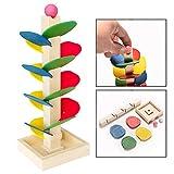 OFKPO Kinder Murmelbahn Spielzeug aus Holz,Kinder Puzzle Spielzeug