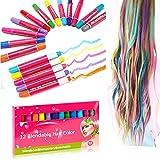 KOBWA Geschenke Für Mädchen Haarkreide, Temporäre Haare Kreide Für Kinder Ideal für Party, Geschenkideen für Kinder Mädchen, Jungen, Frauen, Männer -12 Farben, Leicht Auswaschbar,Ungiftig