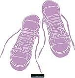 CLICKANDPRINT Aufkleber » Sneakers, 50x49,1cm, Flieder • Wandtattoo / Wandaufkleber / Wandsticker / Wanddeko / Vinyl