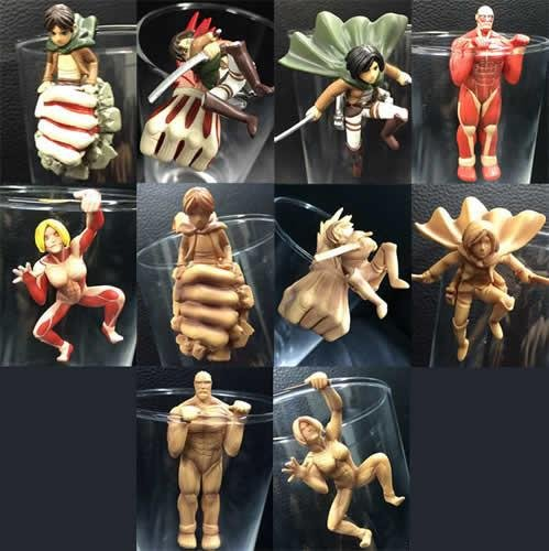 Attack on Titan Glass Of Titan Series Collectible Ochatomo Figures (1 Random Blind Box)