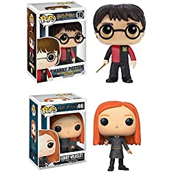 Funko POP! Harry Potter: Harry (Triwizard Tournament) + Ginny Weasley - Stylized Movie Vinyl Figure Set NEW