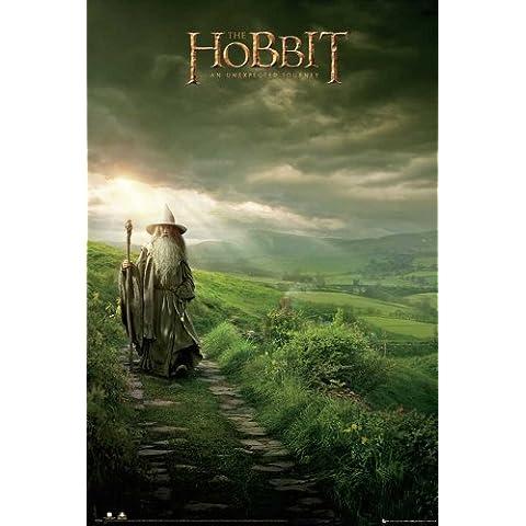Empire Merchandising - Poster, motivo: Hobbit Gandalf, con accessori per il montaggio Avec 2 baguettes