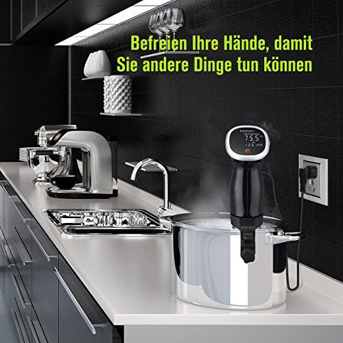 OMorc Sous Vide Stick, Auto-Off-Funktion, 850W Niedrigtemperatur Garer mit digital Display, Immersion Zirkulator, BPA-frei Präzisionskochtopf mit GS,RoHS,CE Zertifizierung(Rezept verfügbar) - 7