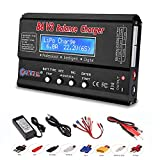 ZHITING Caricabatterie LiPo Caricabatterie 1S-6S Caricabatterie digitale Caricabatterie per batterie NiMH/NiCD/Li-Fe con display LCD Caricabatterie Hobby con connettori Tamiya/JST / EC3 / HiTec/Deans