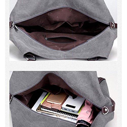Leinenbeutel Schulterbeutel Kurierbeutel Einfach Lässig Big Bags Adrett Handtasche Persönlichkeit Gürtel Mit Hohen Kapazität Tasche BlueLake