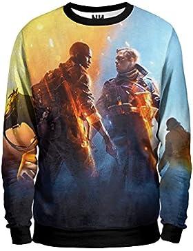 BATTLEFIELD Felpa - Shooter Sweatshirt Unisex - Videogiochi Videogame FPS Sparatutto