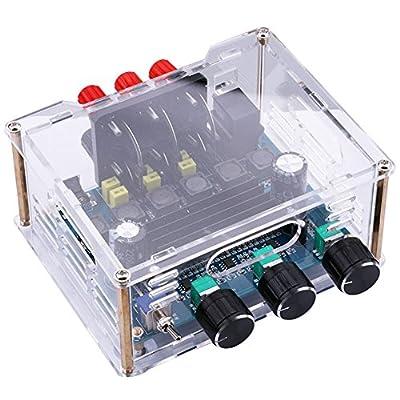 Yeeco 2.1 Canal l'audio Stéréo Amplificateur Subwoofer Planche; DC 12-24V Haute Puissance
