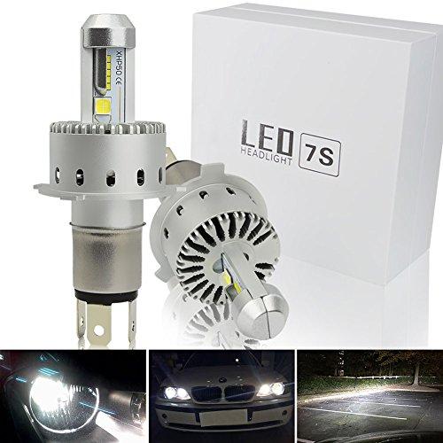 Safego H4 High Low Faro Bulbi Auto LED Luci 90W 6000LM Super Luminosa Lampada con CREE Chip per Auto / furgone / camion / veicolo Faro Della Luce Delle Lampadine dell'automobile Kit LED 6000K Bianco 12V DC 7S-H4