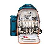Picknick Rucksack vierköpfige Oxford Tuch fresh-keeping Tasche mit Picknick Matte (nicht inkl. Geschirr)